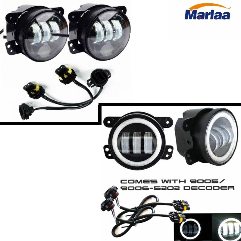 LED Fog Lights Conversion Adapter Wires Fit For JW Speaker 6045 6145 ...