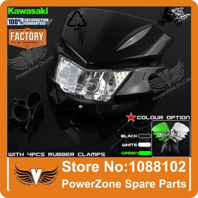 Motocicleta Farol Universal Fit TTR250 KLX150 250 KAYO IRBIS T4 T6 Pit Pro Sujeira do Motocross Da Bicicleta Frete Grátis