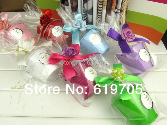 Free Shipping Personalized 100 Pcs Lot Wedding Favors Tin Pails Mini