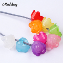 Acrylic Multicolor Jelly Rose Flower Eccentric Hole Bead Earring Pendant Necklace Bracelet Ornament Jewelry Accessories Handmade