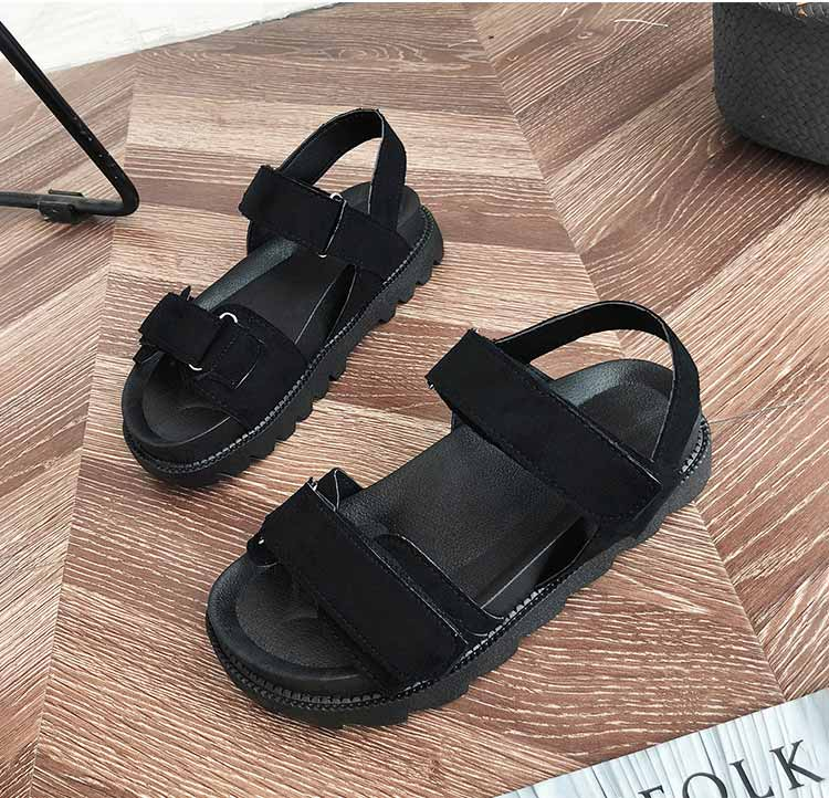 Women shoes adult solid sandals women 2019 fashion med heel height women sandals flat with casual shoes woman sandals female  (5)