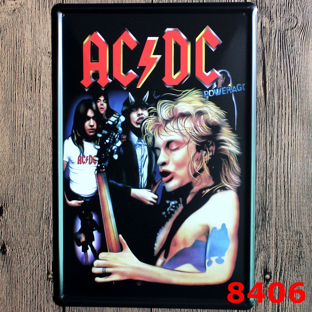 Buy famous acdc band vintage home decor for Retro house music