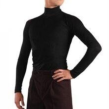 Топы Для латинских танцев, Мужская одежда для Бальных тренировок, профессиональная Одежда для танцев с длинным рукавом, одежда для соревнований ча-ча, танцевальная куртка ZH3100