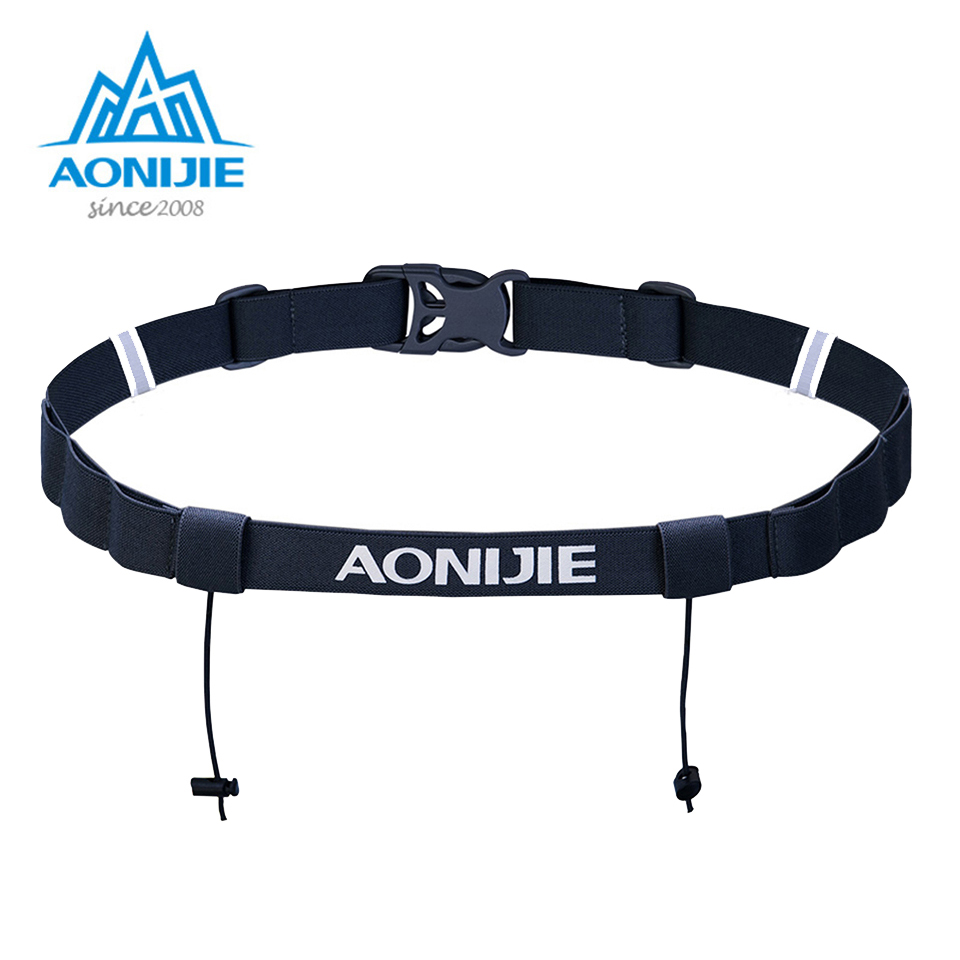 AONIJIE Unisex Outdoor Sports Running Race Number Belt Waist Pack Bib Holder Triathlon Marathon Cycling Motor With 6 Gel Loops