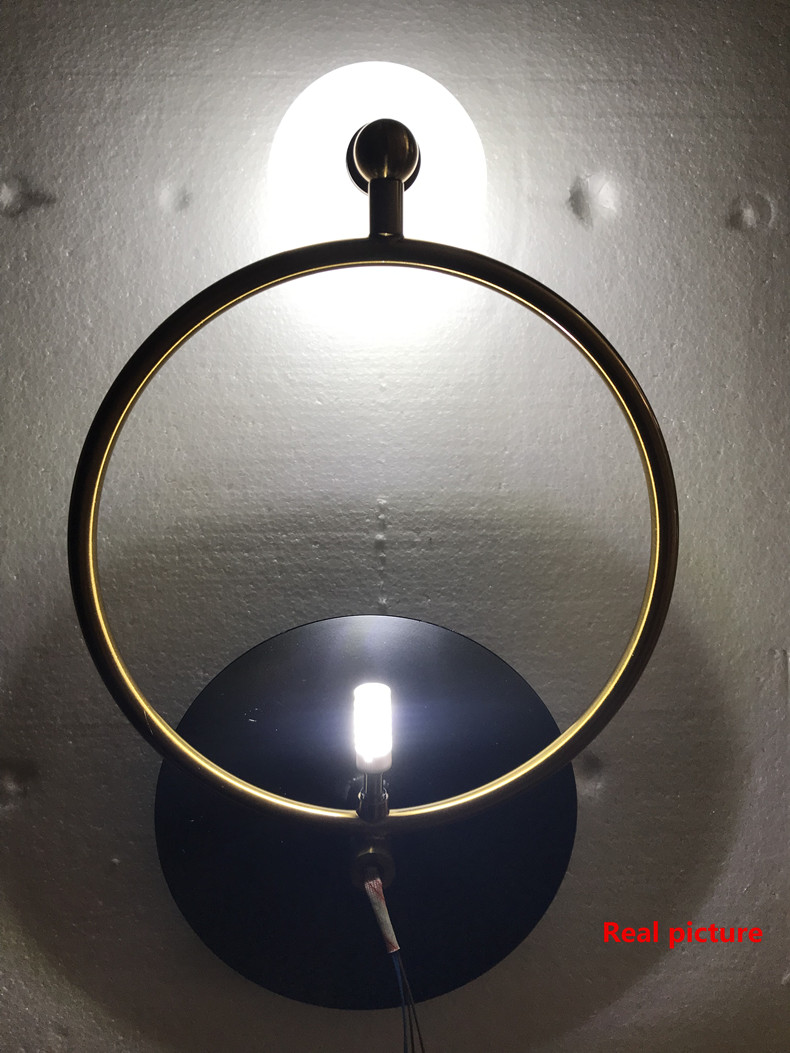Creative Round Led Wall Lamps Nordic Indoor Lighting Bedroom Parlor Aisle Wall Light Sconce Lighting Fixtures Free Shipping