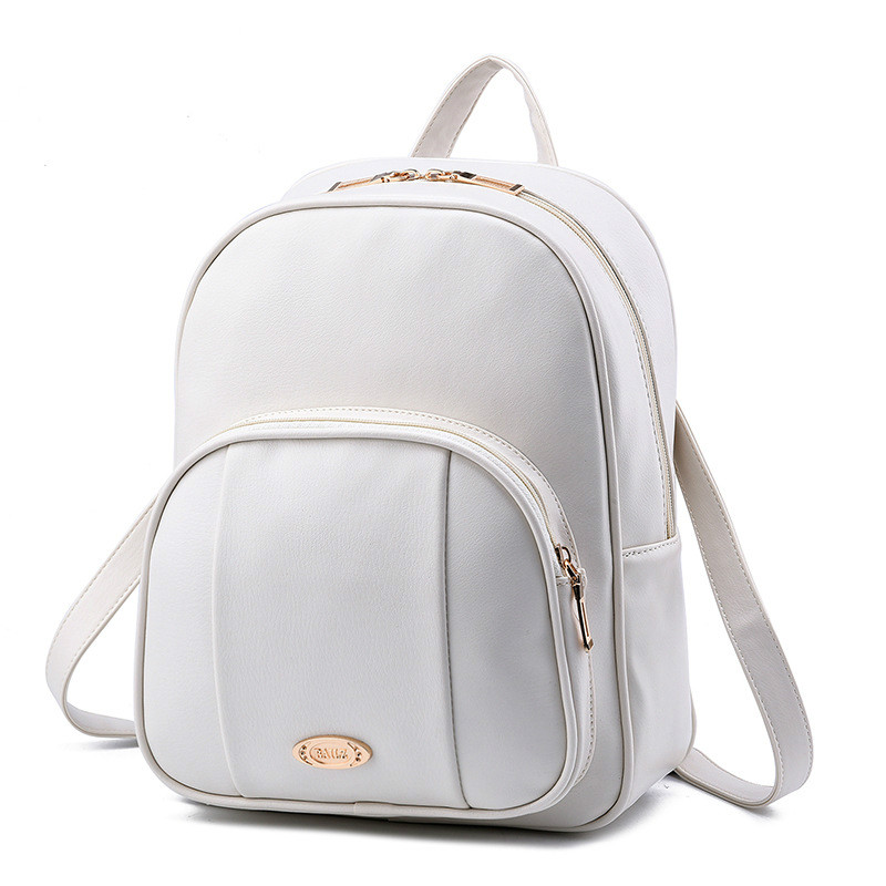 2017 New Arrival Bags for Woman Concise Leisure Fashion Korean Style Backpack Solid Color Beige Pink