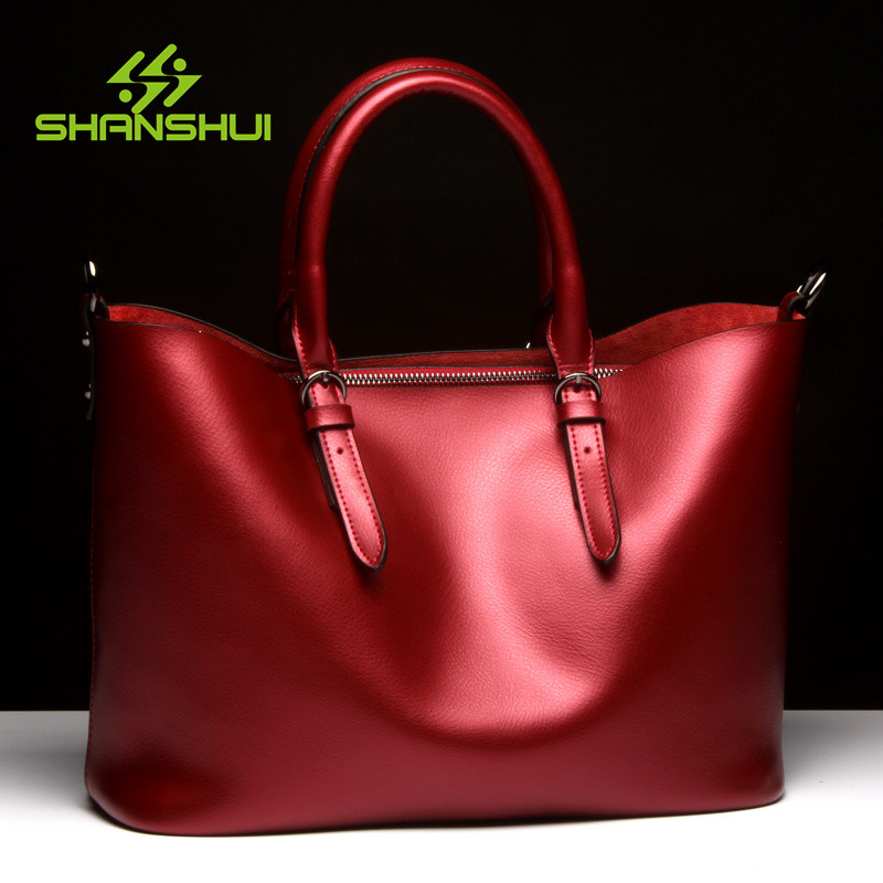 SHANSHUI Luxury Handbags Famous Brand Genuine Leather Woman Shoulder Bags Ladies Messenger Tote Bag Ladies Mujer Bolsas 2017 luxury famous brand women female ladies casual bags leather hello kitty handbags shoulder tote bag bolsas femininas couro