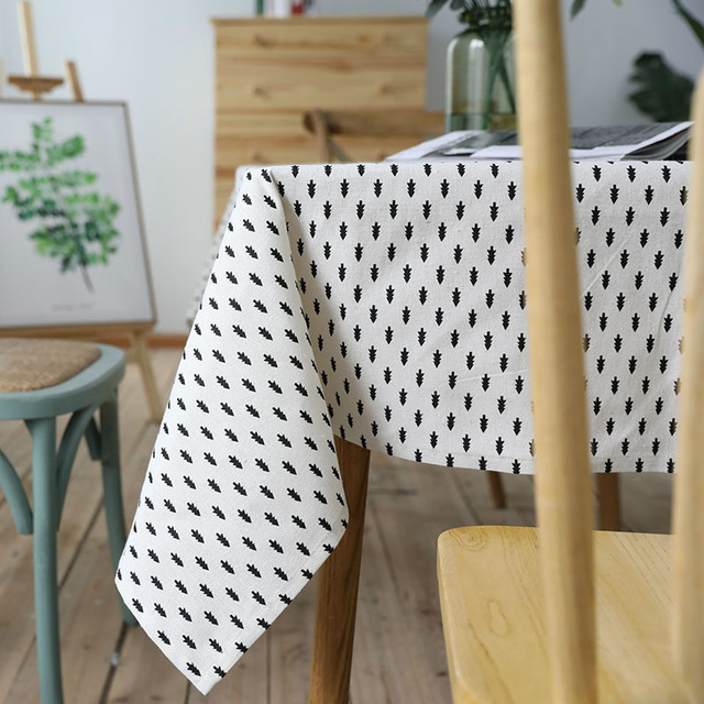 Linen Table Cloth Printed Plaid North Nordic Style Tablecloths For Table Toalha De Mesa Rectangular Tablecloth Flax Table Cover