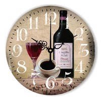 Fashion Creative European Wine Cafe Restaurant Bar Decoration Mingle Floor Wall Clock Wall Clock Quartz Wall