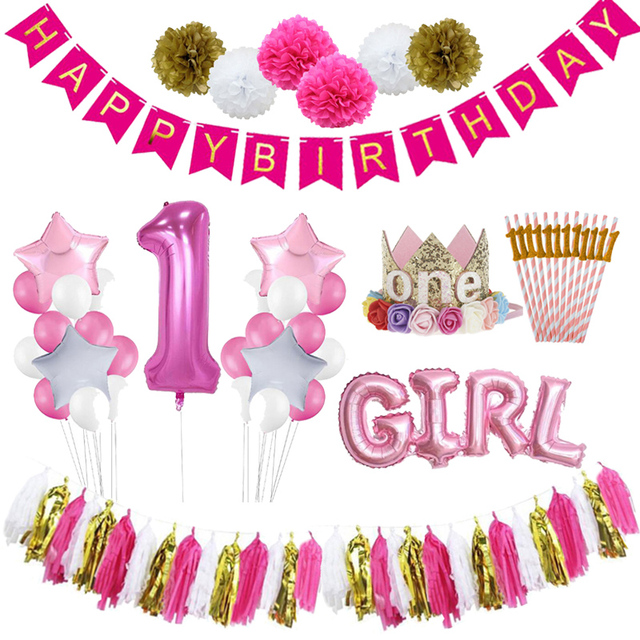 first birthday girl party 1st birthday decor 1 year party happy