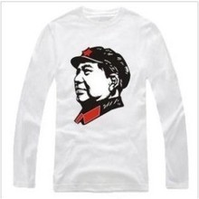 New Men's long sleeve T shirt Slim Chairman Mao Cotton Top Casual Hooded Fashion