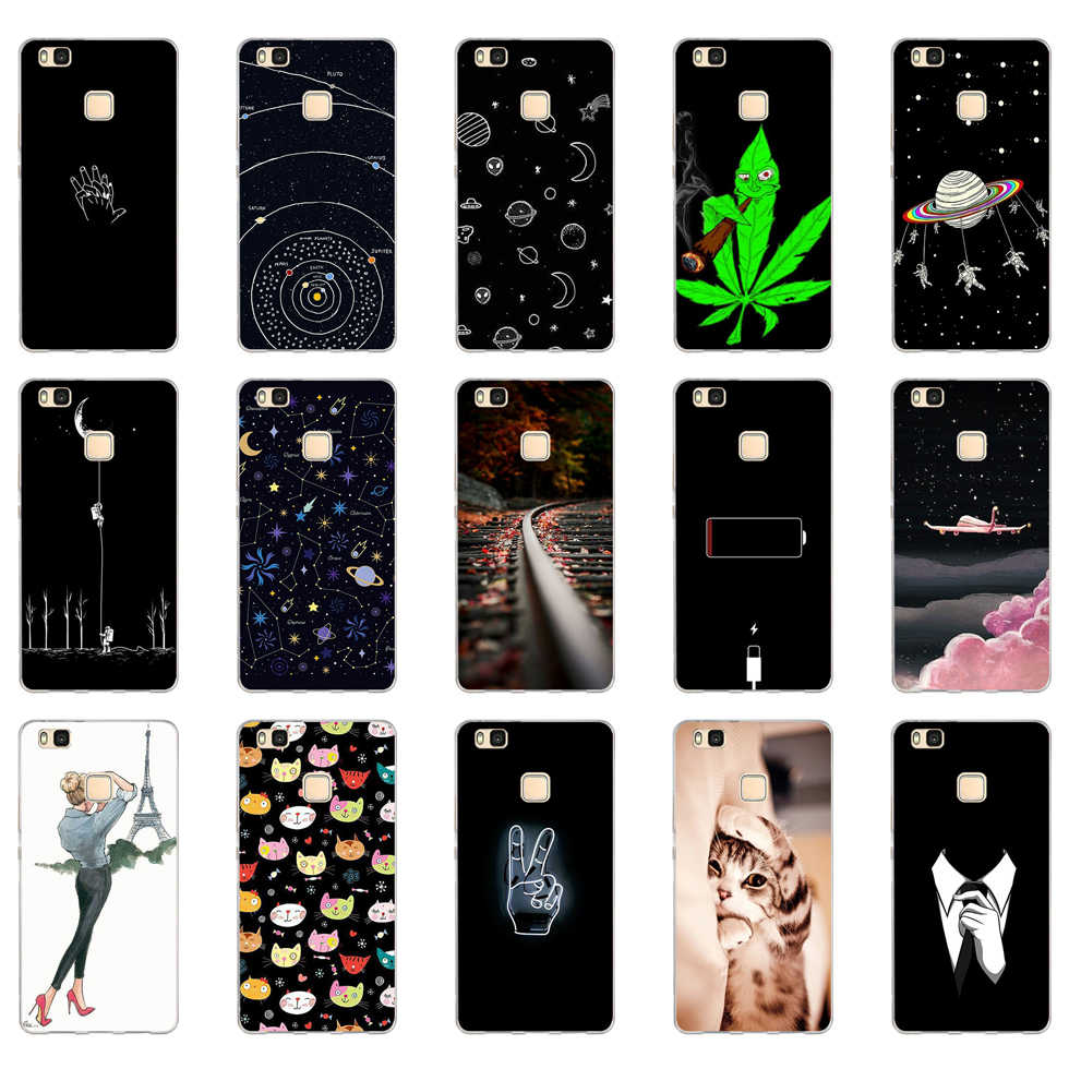 H For Cover Huawei P9 Lite Case Cute Animal Silicon Soft TPU for Funda Huawei P9 Lite Case 2016 P9 P9Lite Phone Back Cases