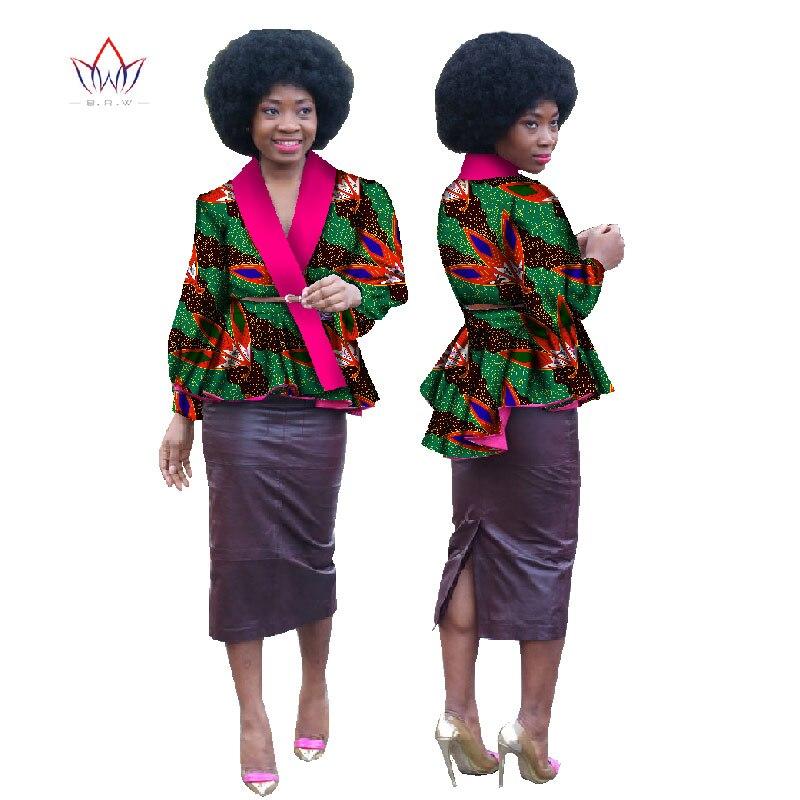 Automne nouveaux Designs robes africaines pour les femmes Bazin riches Blouses africaines de grande taille 6XL vêtements personnalisés africains BRW WY629