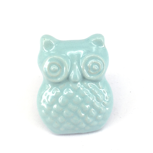 Antique Owl Knobs Ceramic Drawer Knob Handle Kids Dresser Handle ...