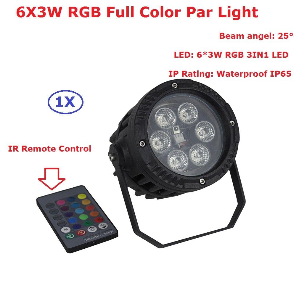 ЕС США Plug превосходное Водонепроницаемый Par Огни 6x3 Вт rgb полный Цвет светодиодный Par света с дистанционным Управление для вечерние Свадебны...