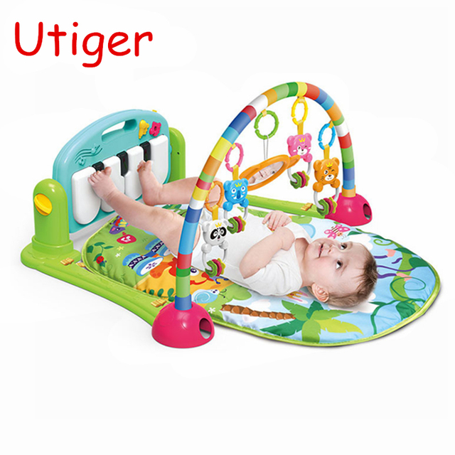2d95c834dbe1 Baby Play Gym Mat Carpet 3 in 1 Educational Piano Develop Crawling Musical Play  Mat Child