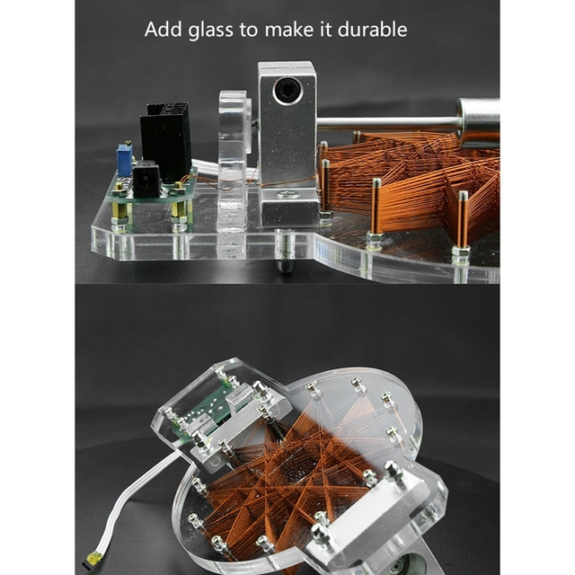 GYTB Hall Motor,Brushless Motor,High Speed Motor Motor Module,With Power Educational Model Gift Us Plug