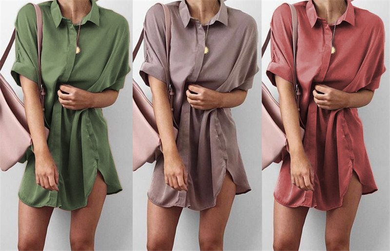 4-Colors-Short-Sleeve-Maternity-V-neck-chiffon-blouse-summer-fashion-casual-solid-Color-shirts-loose (2)