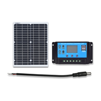 BOGUANG flexible solar panel 20w 18V with 12V 10A Controller for Lithium or lead acid battery charging