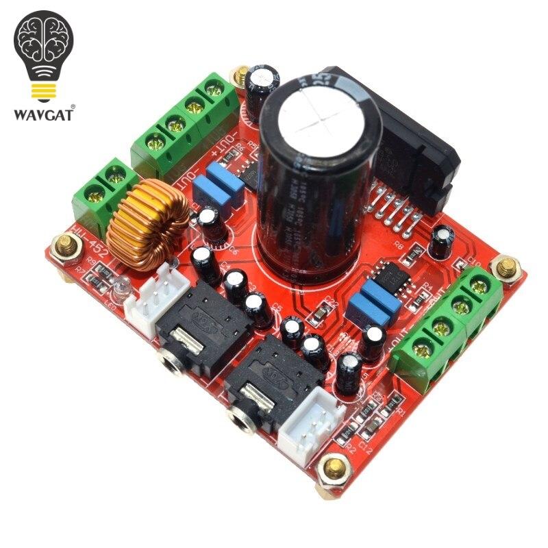 WAVGAT TDA7850 4X50 W coche tablero de amplificador de potencia de Audio para BA3121 Denoiser DC 12 V