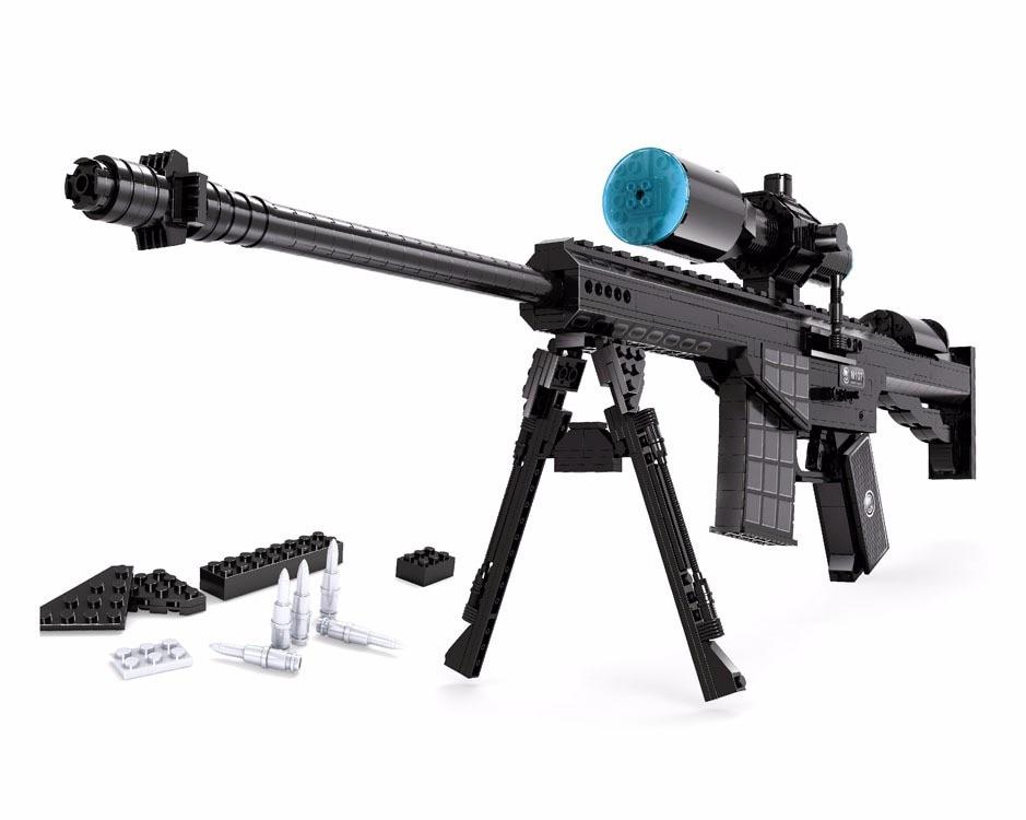 Un jouet de construction de modèles Compatible avec A22707 527 pièces blocs de pistolet à tirer jouets loisirs pour garçons filles Kits de construction de modèles