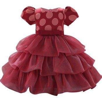 c69c07055 Bautizo 1 año bebé niñas flor impresa recién nacido vestidos infantil niños  fiesta de princesa Tutu para niñas 1st cumpleaños vestidos