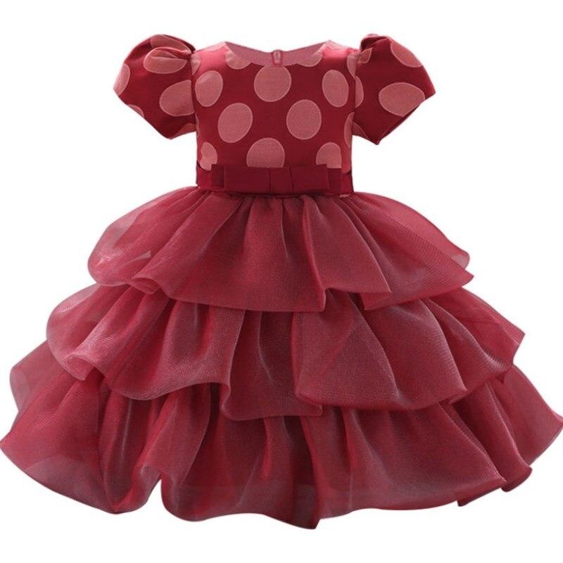 Christening 1 Year Baby Girls Printed Flower Newborn Dresses Infant Kids Party Princess Tutu For Girls 1st birthday Dresses