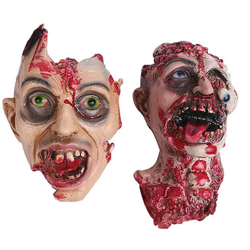 halloween mask scary bloody zombie mask melting face adult latex costume walking dead halloween scary face - Halloween Scary Faces