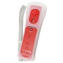 Высокое качество 1 шт. красный Встроенный Motion Plus пульт дистанционного управления с силиконовый чехол + ремешок для Nintendo Wii для wii remote