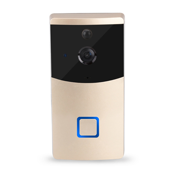 WIFI video doorbell camera wireless home intercom system ip doorbell alarm information push support IOS & Android system build in battery long time standby wireless wifi 720p ip doorbell intercom system