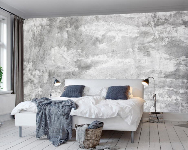Beibehang Custom Wallpaper Home Decorative Mural European Style Old Wall  Deck Mural Background Wall Concrete Wall
