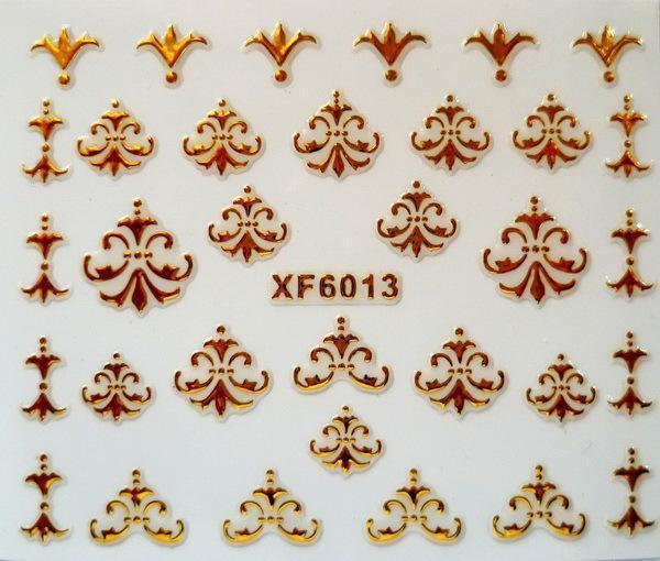 DIY gold design Water Transfer Nails Art Sticker decals lady women manicure tools Nail Wraps Decals XF6013 12 models set gold 3d design christmas nail sticker bling bows nail art manicure stickers decals for women nails decoration