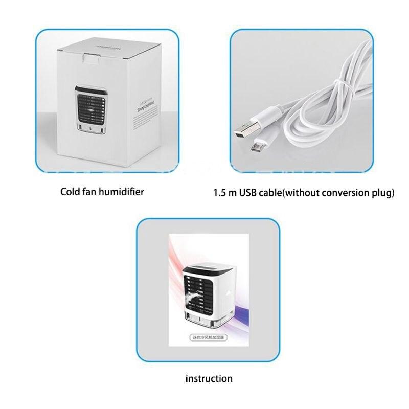 Ventiladores portátiles humidificador de aire frío purificador de aire refrigeración Aire Acondicionado ventilador pequeño escritorio ventilador mesa de sobremesa humedad Sp - 4