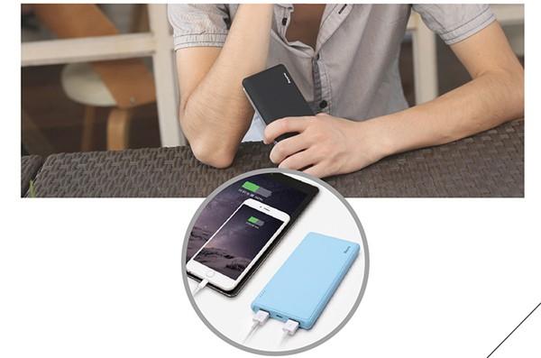 Besiter 2 USB Ports Ultra Thin External Backup Battery  (10)