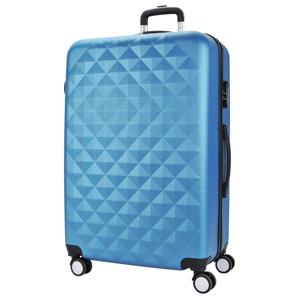 Bright blue suitcase PROFFI TRAVEL PH8646 darkblue L plastic, with built-in scales, large top quality trolley luggage bags storage box suitcase bag men travel large capacity pc pull rod trunk women waterproof rolling