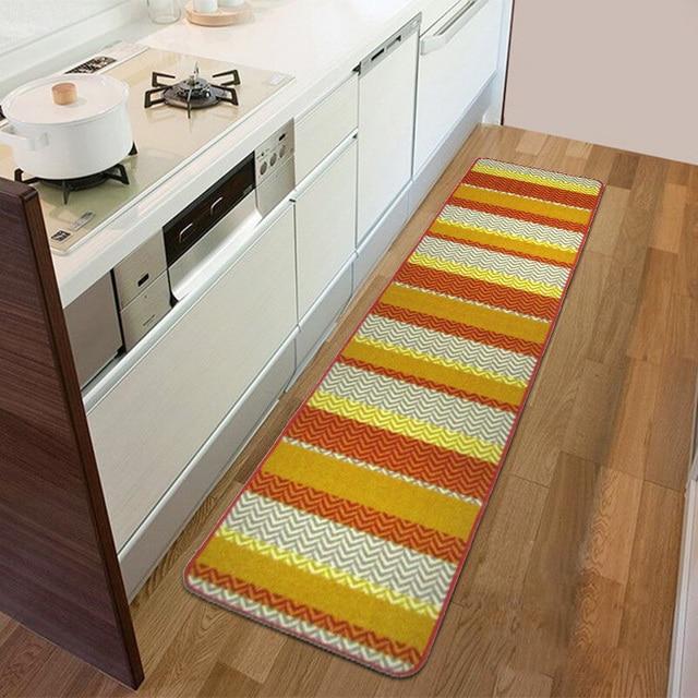 long kitchen rugs best degreaser 45x60cm 45x180cm latex slip geometric stripes floor mats for