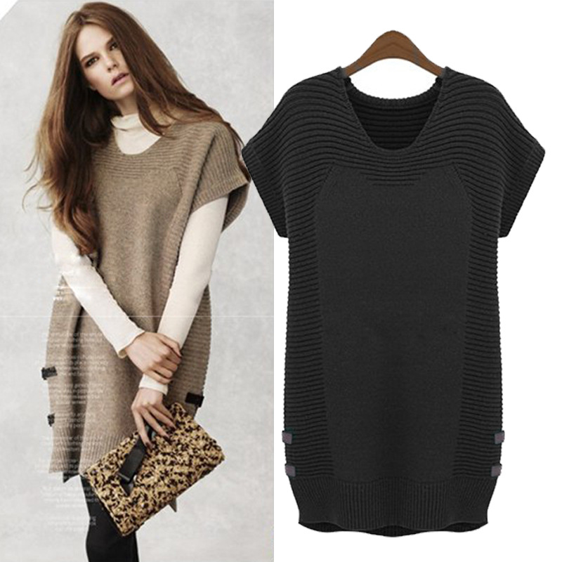 plus size 5xl 2017 new fashion women sweater loosen slimming women long pullover short sleeve. Black Bedroom Furniture Sets. Home Design Ideas