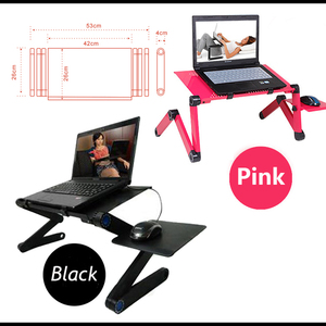 Image 4 - Multi Functional Ergonomic laptop table for bed Portable sofa folding laptop stand lapdesk for notebook with mouse pad