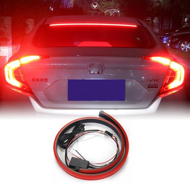 US $12 75 25% OFF|12V Universal Red LED Car Styling Third Brake Light Bar  Fog Lamp Truck Stop Tailgate High Mount Rear Roof Warning Light-in Signal
