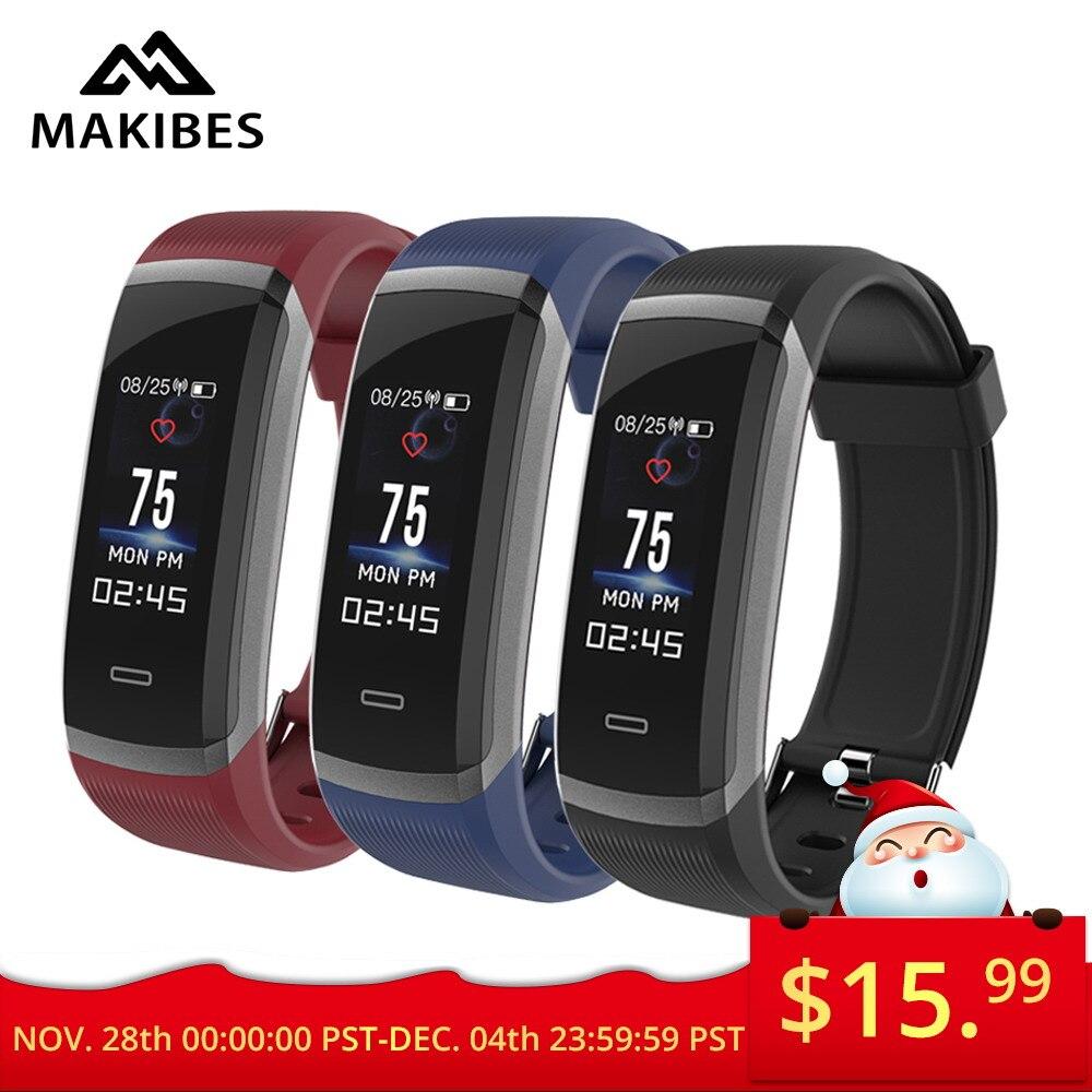 Weihnachten tag müssen nur $15,99 Makibes HR3 Armband Bluetooth Armband Kontinuierliche Herz Rate Monitor Fitness Tracker SmartBand