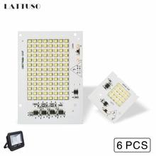 LATTUSO 6pcs Lamp Chips 220V SMD Bulb 2835 Smart IC Led Light Input 10W 20W 30W 50W 90W For Outdoor FloodLight