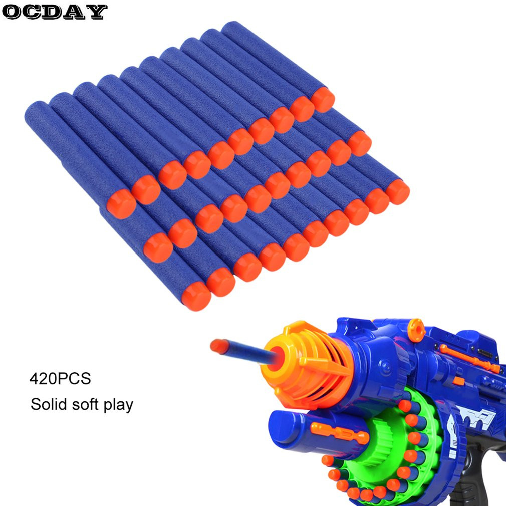 50/100/200PCS Hollow Hole Head Foam Soft Bullets Toy Gun Darts For Refill Toy Gun Lightweight Air Gun EVA Bullets 7cm Universal