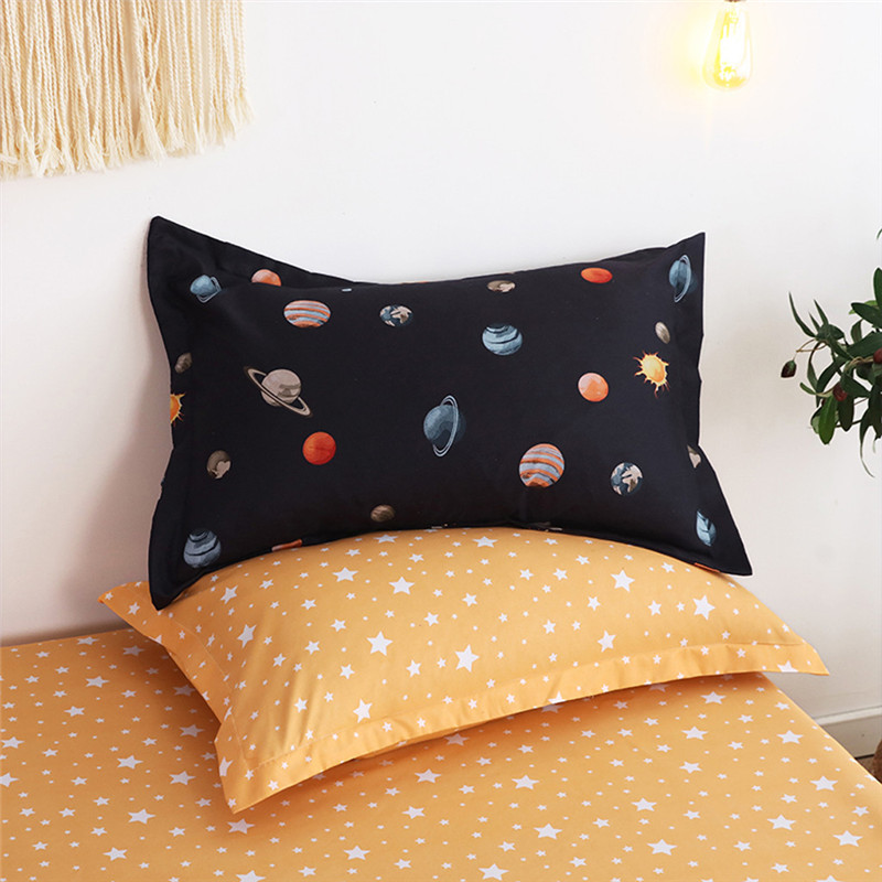 Image 3 - Four Piece Quilt Cover, Pillowcase Planet Full Size moon mattresses queen King size bed sheet  Sweet dream  modern concepts-in Bedding Sets from Home & Garden