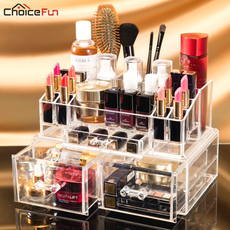 Storage-Box Drawer-Organizer Stackable Makeup Cosmetic Things Acrylic Plastic Beauty