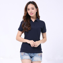 women polo shirts solid cotton camisa shirt short-sleeve plain top summer casual 2019