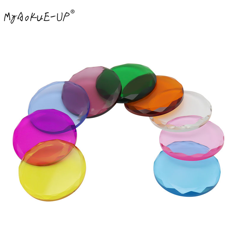 5pcs/lot High Qulity Glass Glue Adhesive Pallet Holder Grafting Lash Eyelash Extension Eyelashes Makeup Tools Colorful