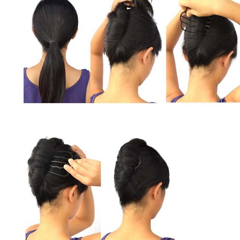 1 Pc Neue Frauen Mädchen Haar Flechter Carbon Stahl Haar Flechten Werkzeug Einzigartige Design Einfach Hochsteckfrisur Hause Haar Schönheit Clips Diy