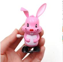 iWish 90mm Hot Wind Up Kids Toys Clockwork Bunny Walking Rabbit For Children Cartoon Hares Rabbits Classic Toy Easter Sunday Day iwish hot halloween wind up cushaw jump pumpkin winding jumping squash gifts toy for children cuaurbit baby toys all saints day