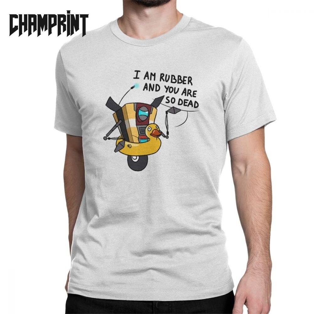 Claptrap Borderlands Men's T Shirt Team Weapon Game Vintage Tees Short Sleeve Crew Neck T-Shirt 100% Cotton Plus Size Clothes