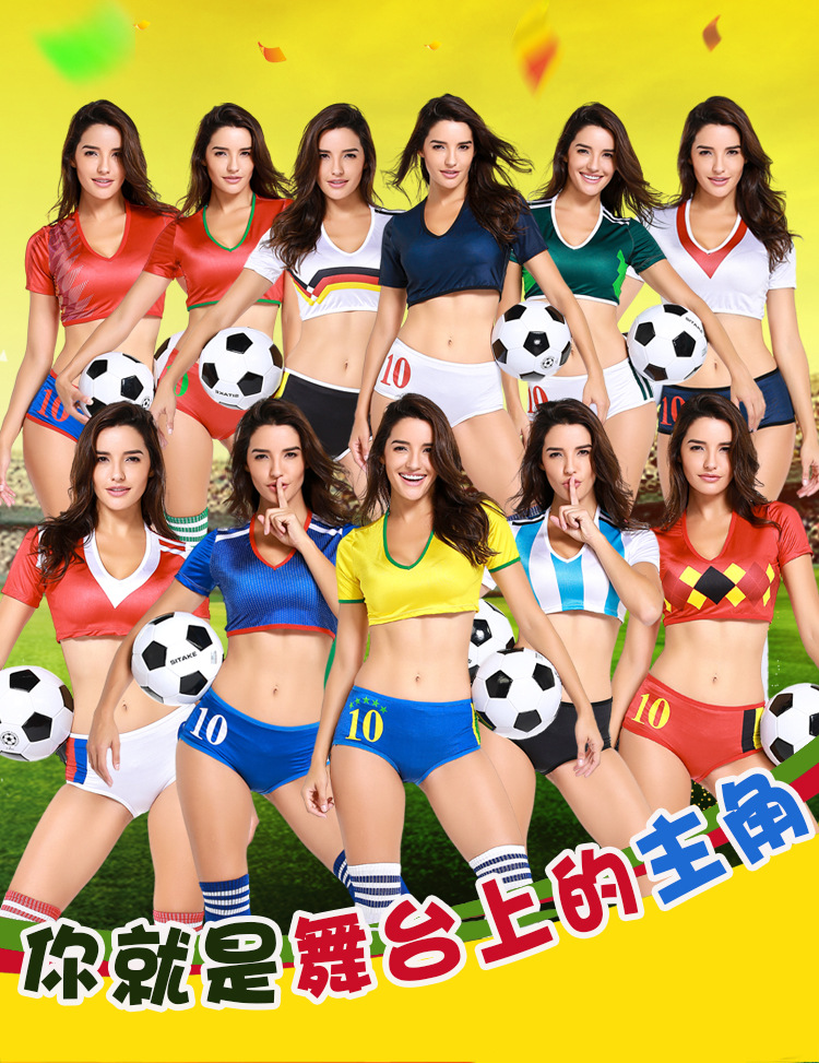 2018 Football Baby Costume Sexy Cheerleading Clothes  Sexy Cheerleader Uniform Sports Football Costume Outfit Fancy Dress